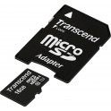 Transcend 16Gb microSDHC Class 10 UHS-I + SD adapter (TS16GUSDU1)