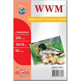 WWM 225г  50арк., 10х15, глянцевий (G225.F50/C)