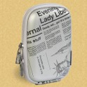 Riva case 7023 PU Silver newspaper