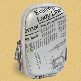 Riva case 7023 PU Silver newspaper